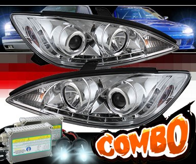 HID Xenon + Sonar® DRL LED Projector Headlights - 02-06 Toyota Camry