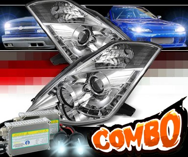 HID Xenon + Sonar® DRL LED Projector Headlights - 06-09 Nissan 350Z