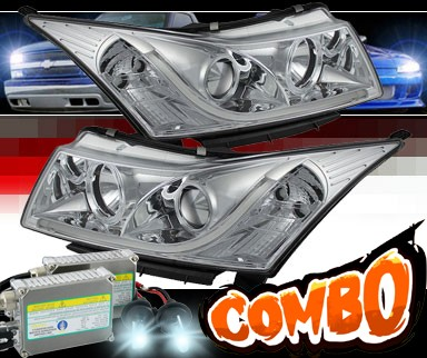 HID Xenon + Sonar® DRL LED Projector Headlights - 11-15 Chevy Cruze
