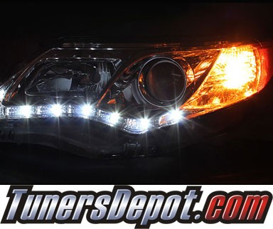 HID Xenon + Sonar® DRL LED Projector Headlights - 12-14 Toyota Camry