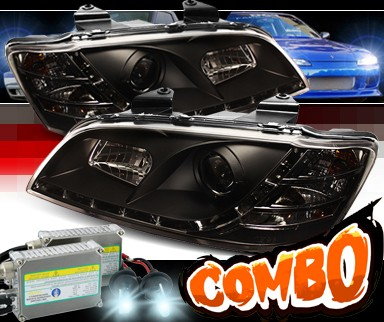 HID Xenon + Sonar® DRL LED Projector Headlights (Black) - 08-10 Pontiac G8