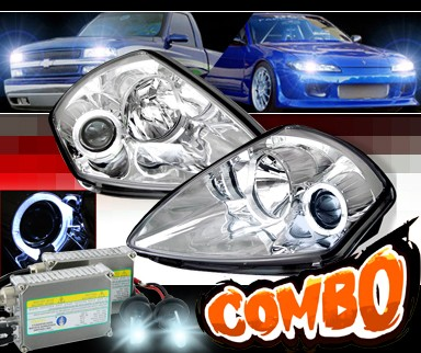 HID Xenon + Sonar® Halo Projector Headlights - 00-05 Mitsubishi Eclipse