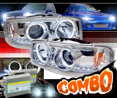 HID Xenon + Sonar® Halo Projector Headlights - 00-06 GMC Yukon XL/SLT