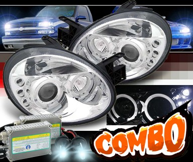 HID Xenon + Sonar® Halo Projector Headlights - 03-05 Dodge Neon