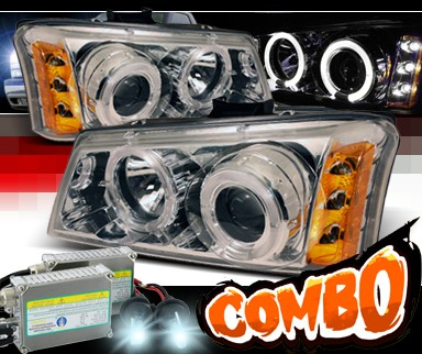 HID Xenon + Sonar® Halo Projector Headlights - 03-06 Chevy Avalanche w/o Body Cladding