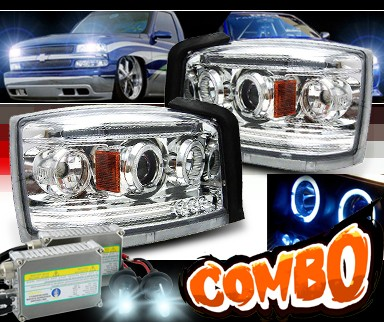 HID Xenon + Sonar® Halo Projector Headlights - 05-07 Dodge Dakota