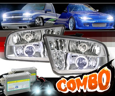 HID Xenon + Sonar® Halo Projector Headlights - 05-09 Ford Mustang