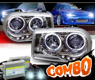 HID Xenon + Sonar® Halo Projector Headlights - 05-10 Chrysler 300C