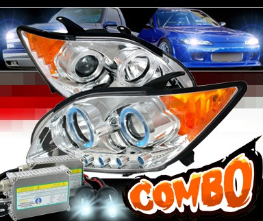 HID Xenon + Sonar® Halo Projector Headlights - 05-10 Scion tC w/ Amber Reflector