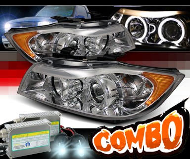 HID Xenon + Sonar® Halo Projector Headlights - 06-08 BMW 323i E90 4dr.