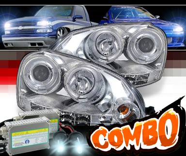 HID Xenon + Sonar® Halo Projector Headlights - 06-09 VW Volkswagen Golf