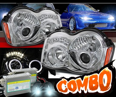 HID Xenon + Sonar® Halo Projector Headlights - 08-10 Jeep Grand Cherokee