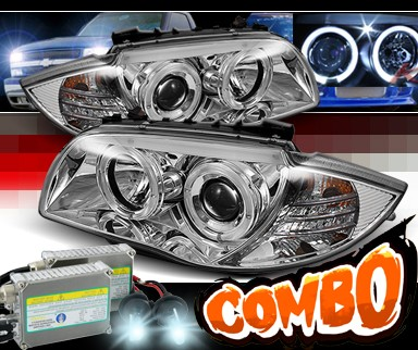 HID Xenon + Sonar® Halo Projector Headlights - 08-12 BMW 135i E82/E88
