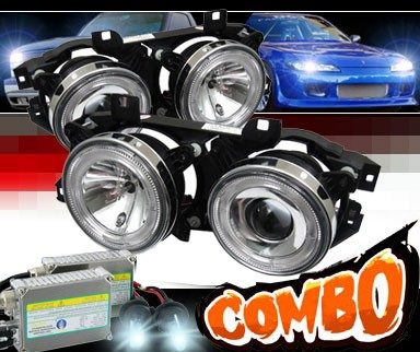 HID Xenon + Sonar® Halo Projector Headlights - 86-95 BMW 525i E34 4dr.
