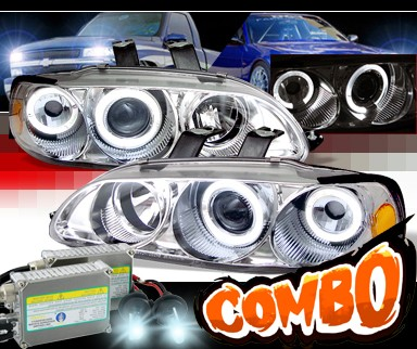 HID Xenon + Sonar® Halo Projector Headlights - 92-95 Honda Civic 2/3dr.