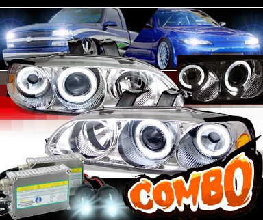 HID Xenon + Sonar® Halo Projector Headlights - 92-95 Honda Civic 4dr.