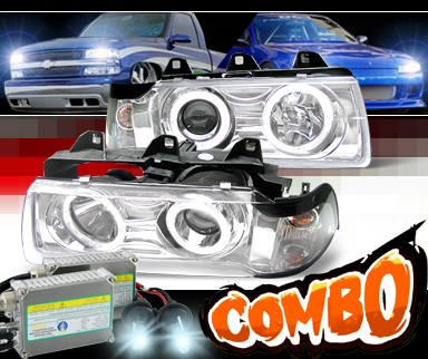 HID Xenon + Sonar® Halo Projector Headlights - 92-98 BMW 325i E36 4dr.