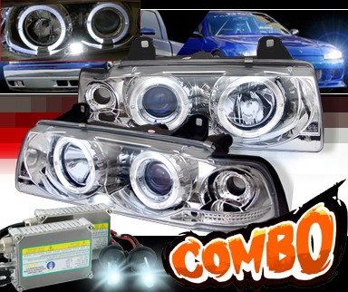HID Xenon + Sonar® Halo Projector Headlights - 92-99 BMW M3 E36 2dr.