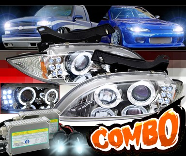 HID Xenon + Sonar® Halo Projector Headlights - 95-99 Chevy Cavalier