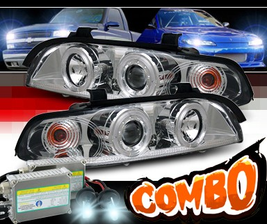 HID Xenon + Sonar® Halo Projector Headlights - 97-00 BMW 540i E39