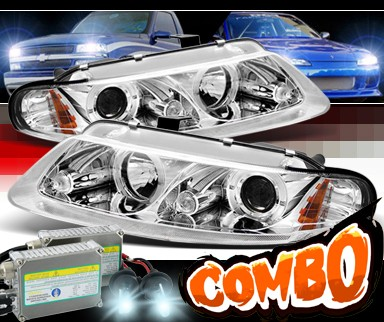 HID Xenon + Sonar® Halo Projector Headlights - 97-00 Chrysler Sebring 2dr. Coupe