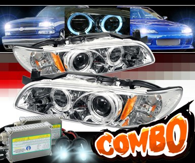 HID Xenon + Sonar® Halo Projector Headlights - 97-03 Pontiac Grand Prix