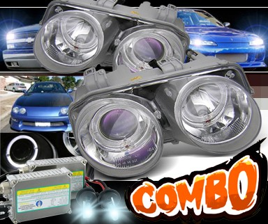 HID Xenon + Sonar® Halo Projector Headlights - 98-01 Acura Integra