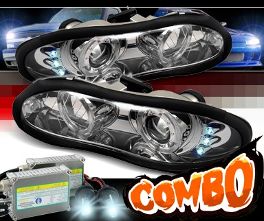 HID Xenon + Sonar® Halo Projector Headlights - 98-02 Chevy Camaro