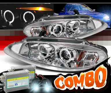 HID Xenon + Sonar® Halo Projector Headlights - 98-04 Dodge Intrepid
