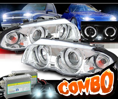 HID Xenon + Sonar® Halo Projector Headlights - 99-01 BMW 323i E46 4dr.