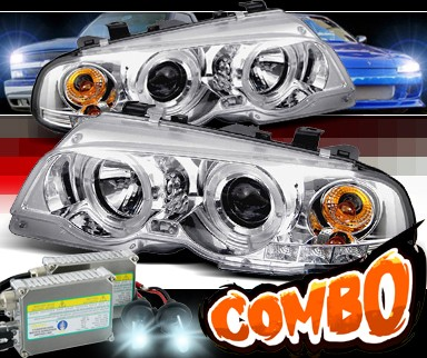 HID Xenon + Sonar® Halo Projector Headlights - 99-01 BMW 330Ci E46 2dr