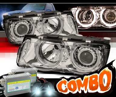 HID Xenon + Sonar® Halo Projector Headlights - 99-01 BMW 740i E38