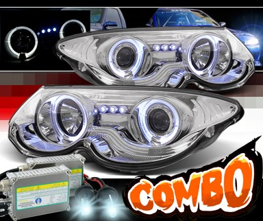 HID Xenon + Sonar® Halo Projector Headlights - 99-04 Chrysler 300M