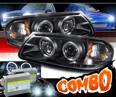 HID Xenon + Sonar® Halo Projector Headlights (Black) - 00-05 Chevy Impala