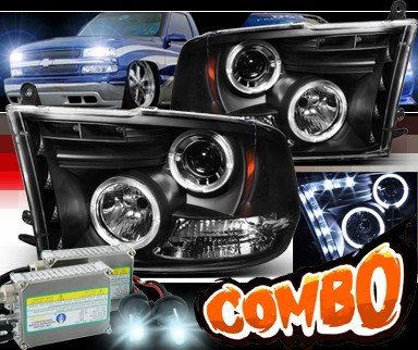 HID Xenon + Sonar® Halo Projector Headlights (Black) - 09-12 Dodge Ram Pickup