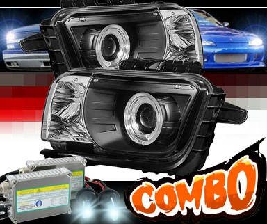 HID Xenon + Sonar® Halo Projector Headlights (Black) - 10-13 Chevy Camaro