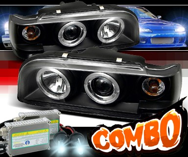 HID Xenon + Sonar® Halo Projector Headlights (Black) - 93-97 Volvo 850