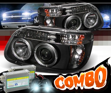 HID Xenon + Sonar® Halo Projector Headlights (Black) - 95-01 Ford Explorer
