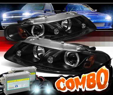 HID Xenon + Sonar® Halo Projector Headlights (Black) - 97-00 Chrysler Sebring 2dr. Coupe