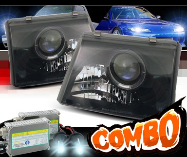 HID Xenon + Sonar® Halo Projector Headlights (Black) - 98-00 Ford Ranger