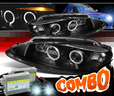 HID Xenon + Sonar® Halo Projector Headlights (Black) - 98-04 Dodge Intrepid