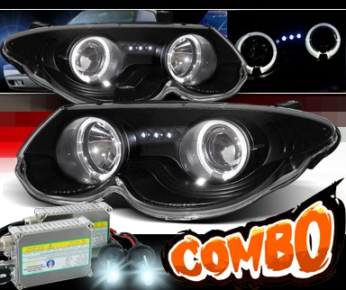 HID Xenon + Sonar® Halo Projector Headlights (Black) - 99-04 Chrysler 300M
