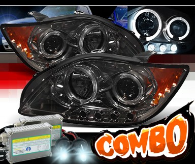 HID Xenon + Sonar® Halo Projector Headlights (Smoke) - 05-10 Scion tC