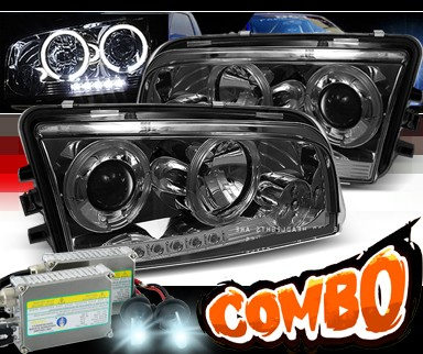 HID Xenon + Sonar® Halo Projector Headlights (Smoke) - 06-10 Dodge Charger