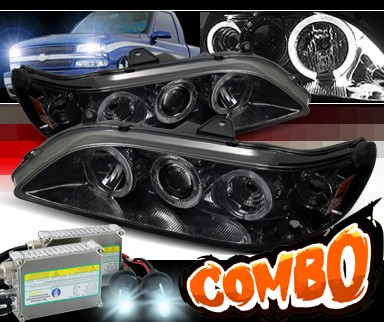 HID Xenon + Sonar® Halo Projector Headlights (Smoke) - 98-02 Honda Accord