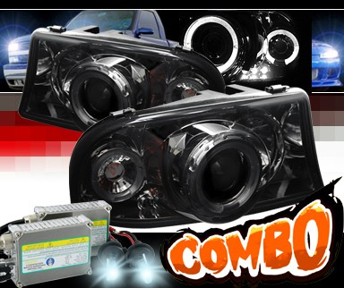 HID Xenon + Sonar® Halo Projector Headlights (Smoke) - 98-03 Dodge Durango