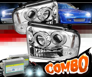 HID Xenon + Sonar® LED CCFL Halo Projector Headlights - 05-07 Ford F-350 F350