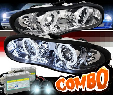HID Xenon + Sonar® LED CCFL Halo Projector Headlights - 98-02 Chevy Camaro
