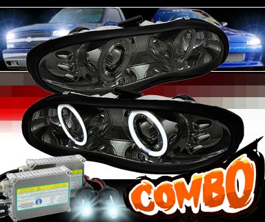 HID Xenon + Sonar® LED CCFL Halo Projector Headlights (Smoke) - 98-02 Chevy Camaro