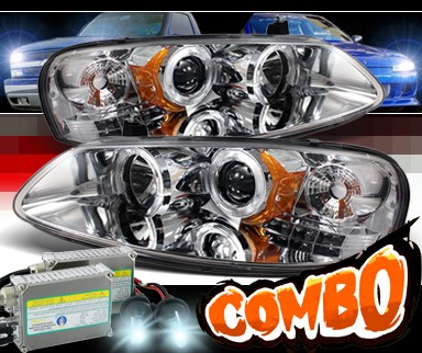 HID Xenon + Sonar® LED Halo Projector Headlights - 01-06 Dodge Stratus 4dr.